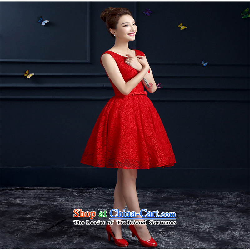 The name of the 2015 spring/summer nobility hannizi red short skirt Fashion, banquet evening dresses bride services red�XXL toasting champagne