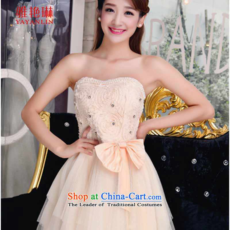 Ya Yun Lin 2015 Autumn bare shoulders and stylish lace dresses temperament Sau San booking pearl white dresses?S