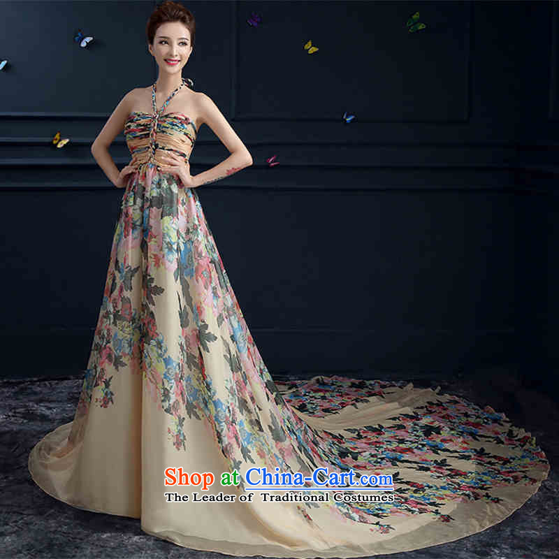 The spring and summer of 2015 New hannizi, noble Hang Long Tail also stylish banquet bride dress photo color L
