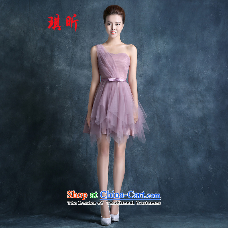 Xin Qi bridesmaid services 2015 Summer new Korean short) Bride bridesmaid evening dress in the usual zongzi chest tents and skirt the usual zongzi dress red small XL