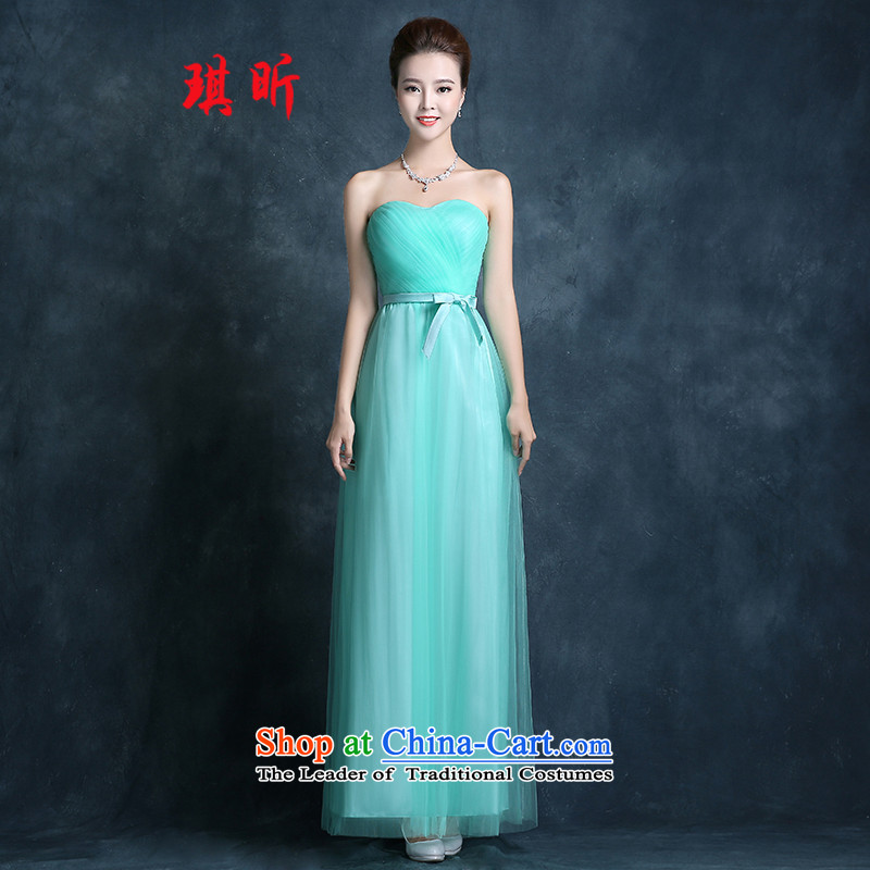 Xin Qi bridesmaid services 2015 new spring and summer long bridesmaid mission dress sister skirt bridesmaid skirt marriage banquet evening dresses female light green聽XL