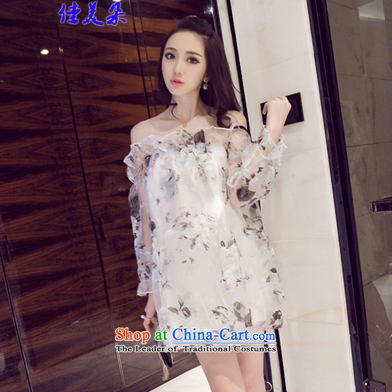 Jia Mei?   2015 Flower new sexy OSCE root yarn stamp bare shoulders a field for large lanterns dresses fairies 8195# Dress Suit?S