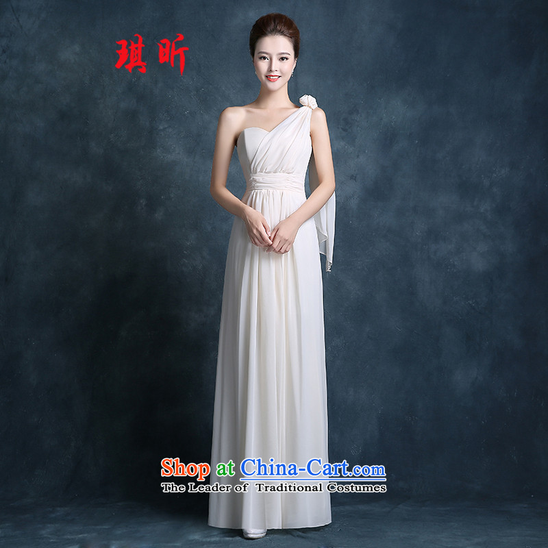 Xin Qi 2015 Spring) bridesmaid Dress Short, Long, Sau San Korean straps and sisters in pink dresses shoulder skirt the hot sales of champagne color?L