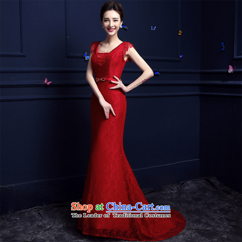 2015 Fashion red HUNNZ, banquet betrothal festival bridal dresses bows services RED?M