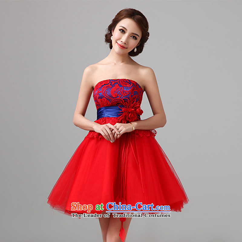 According to Lin Sha bows Service Bridal pregnant women wedding dresses 2015 new red short of qipao married women�A dress�XXL