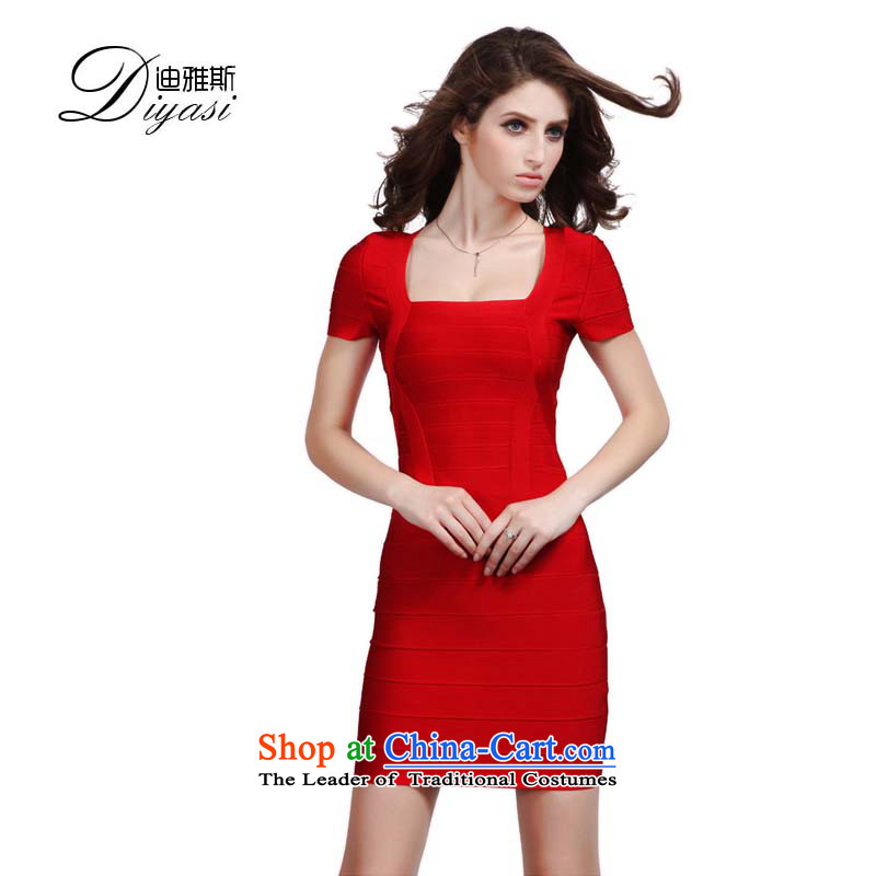 Hua Qi Avandia, sexy body dresses marriages bows bandages Dress Short of red packets and red?XXSTOXL)