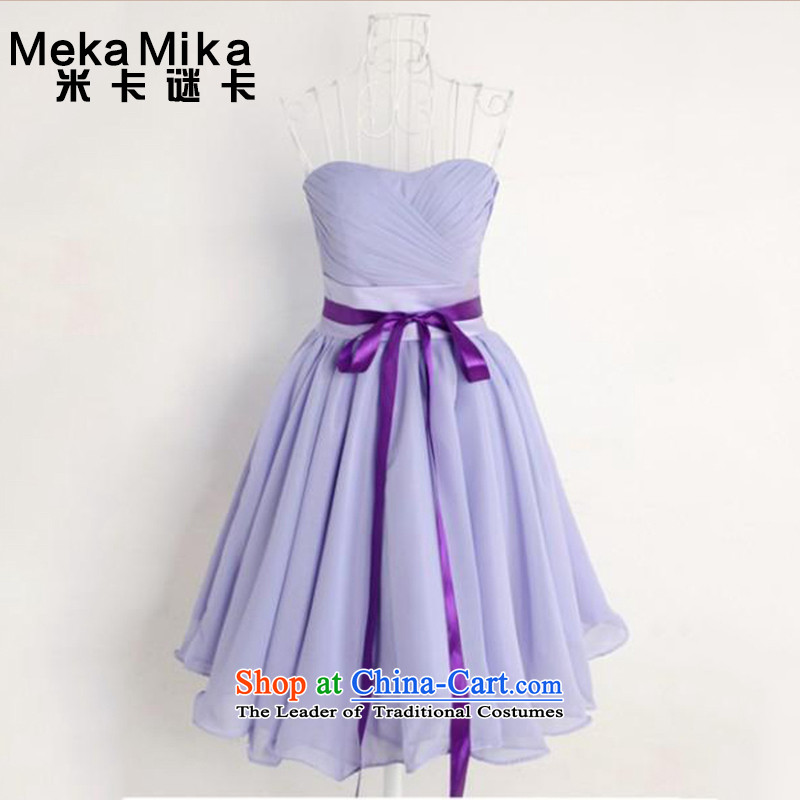 M card of the�NEW Summer 2015 card stars of the same bridesmaid skirt sister skirt short of bows service bridal dresses light purple�M