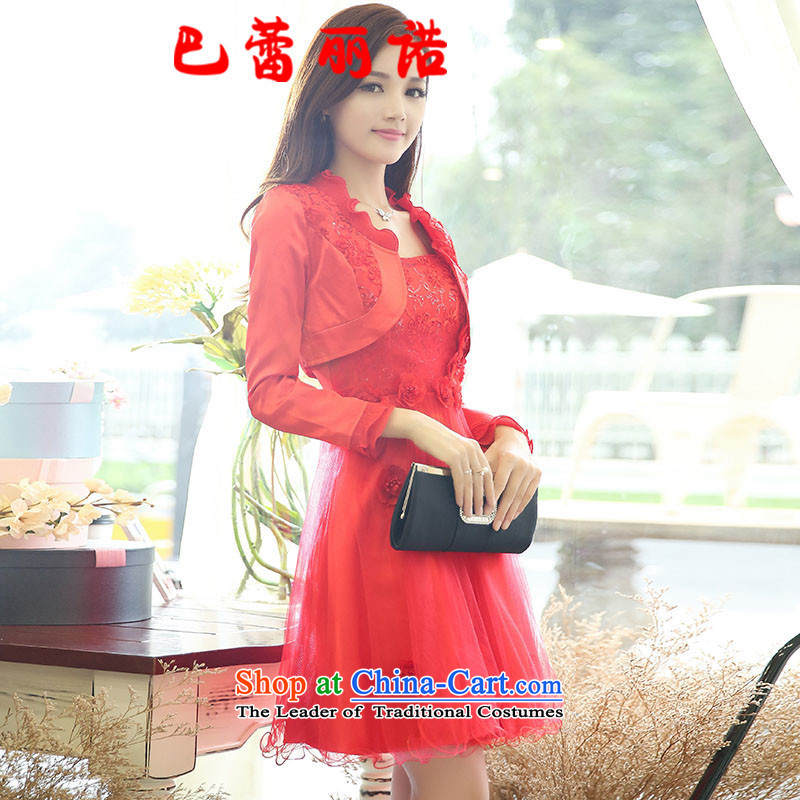 The buds of 2015 summer and fall, new dress code for women married to the bridal dresses pregnant women wedding the lift mast bows services bridesmaid skirt red�L