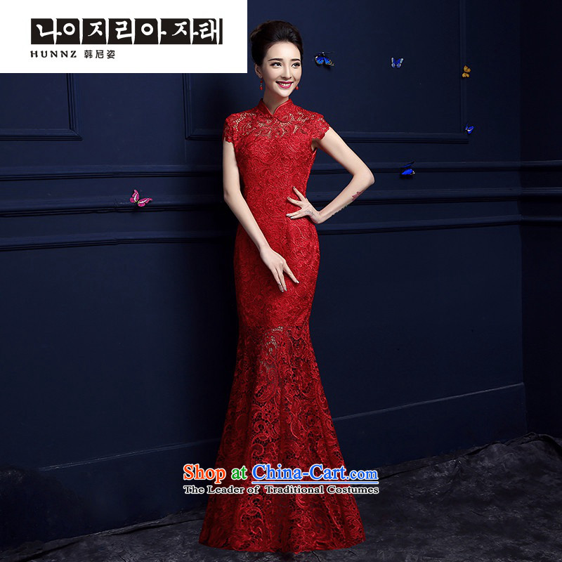 Hannizi  �Spring/Summer 2015 new stylish red long banquet dress for elegant bridal dresses RED�M