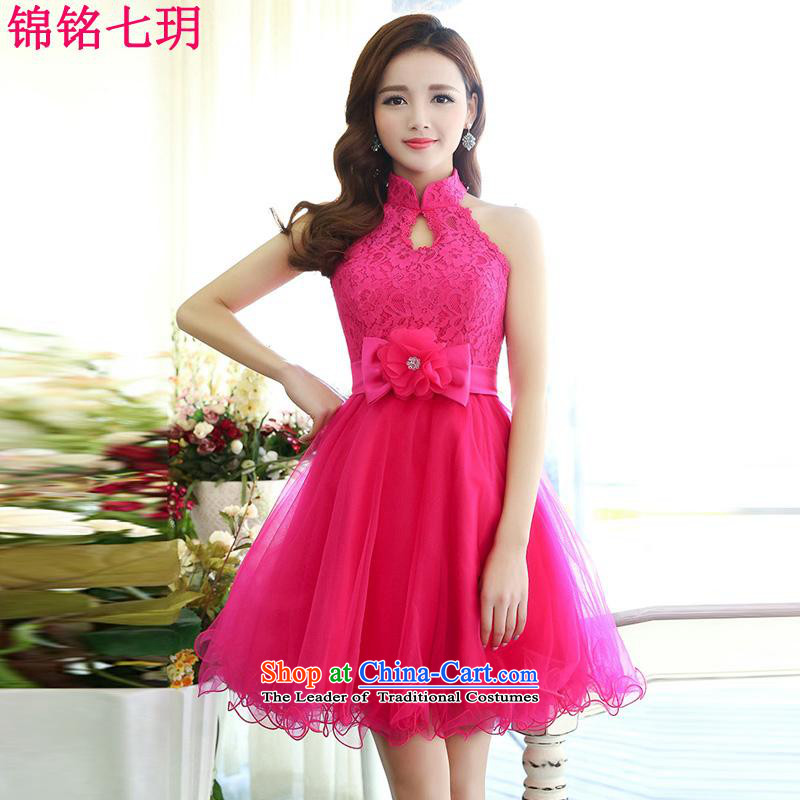 The Honorable Martin Lee Kam-wah 7 of?2015 Summer new irrepressible wedding dresses bows services evening dress short of Ms. banquet service in RED?M