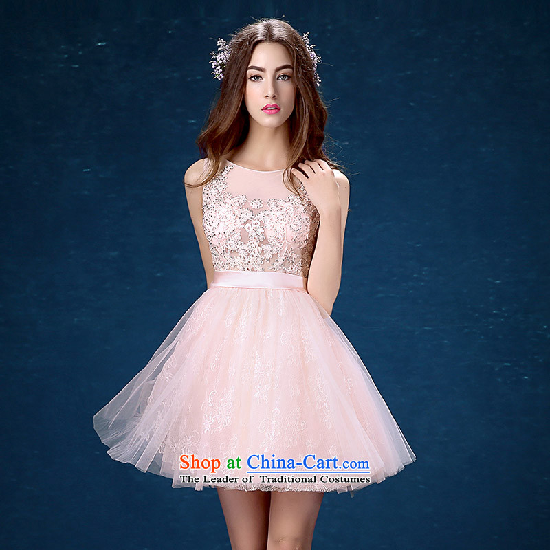 Pink dress length of 2015 New bridesmaid dress evening dresses betrothal festival small dress female Mr Ronald?L
