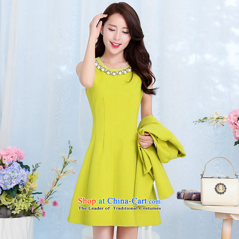 Piao Love Ting�2015 Autumn replacing new madame marriages bows evening dresses two kits for larger red long skirt wedding dress autumn and winter female Qiu Xiang Green�M