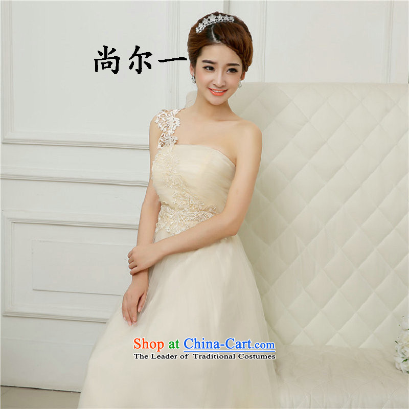 Yet, a new paragraph spring and summer bridesmaid dresses and chest bridesmaid service long skirt sister bridesmaid services5279 champagne color?L