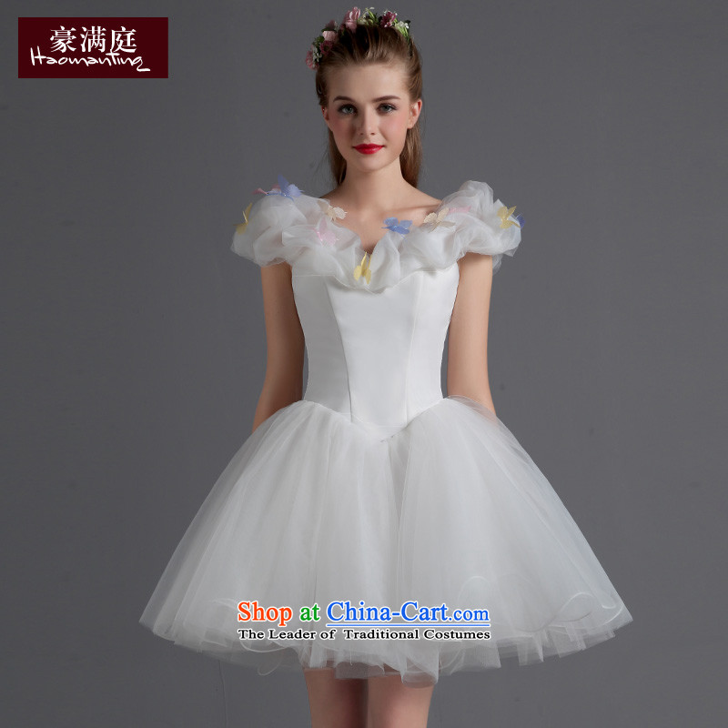 Ho full Chamber modern dance chorus clothing bridesmaid moderator short, bon bon skirt princess small white dresses stage?L