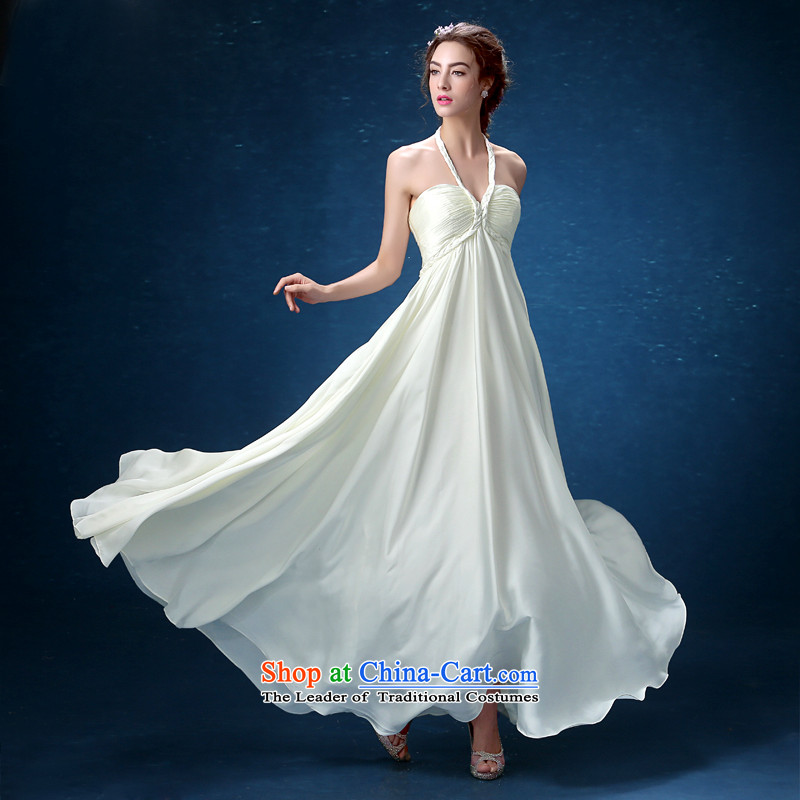 The Korean version of the new 2015 stylish temperament twist-also dress m white dresses bride bridesmaid banquet skirt�M