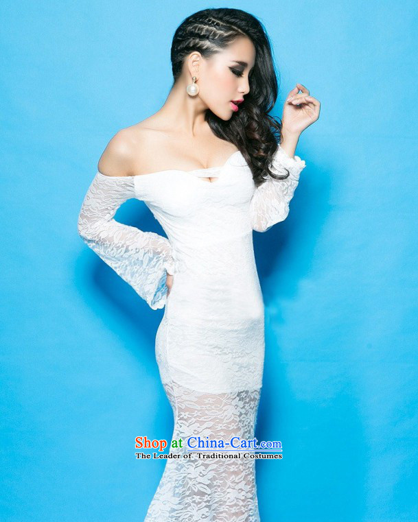 The city of 2015 Autumn Western Wind åüãä sexy goddess of the word for bare shoulders horn cuff crowsfoot long skirt skirt white 33 pictures, prices, brand platters! The elections are supplied in the national character of distribution, so action, buy now enjoy more preferential! As soon as possible.