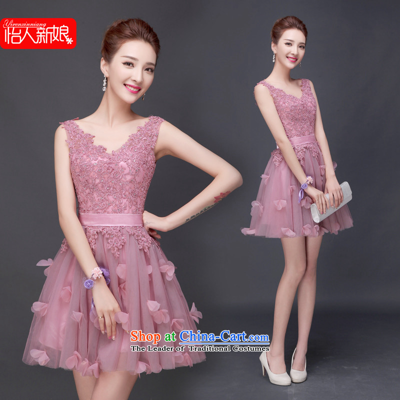 The wedding-dress female 2015 Marriage long summer evening dresses bride services wedding dress bows bridesmaid services spring pleasant bride usual zongzi pregnant women short of color聽L