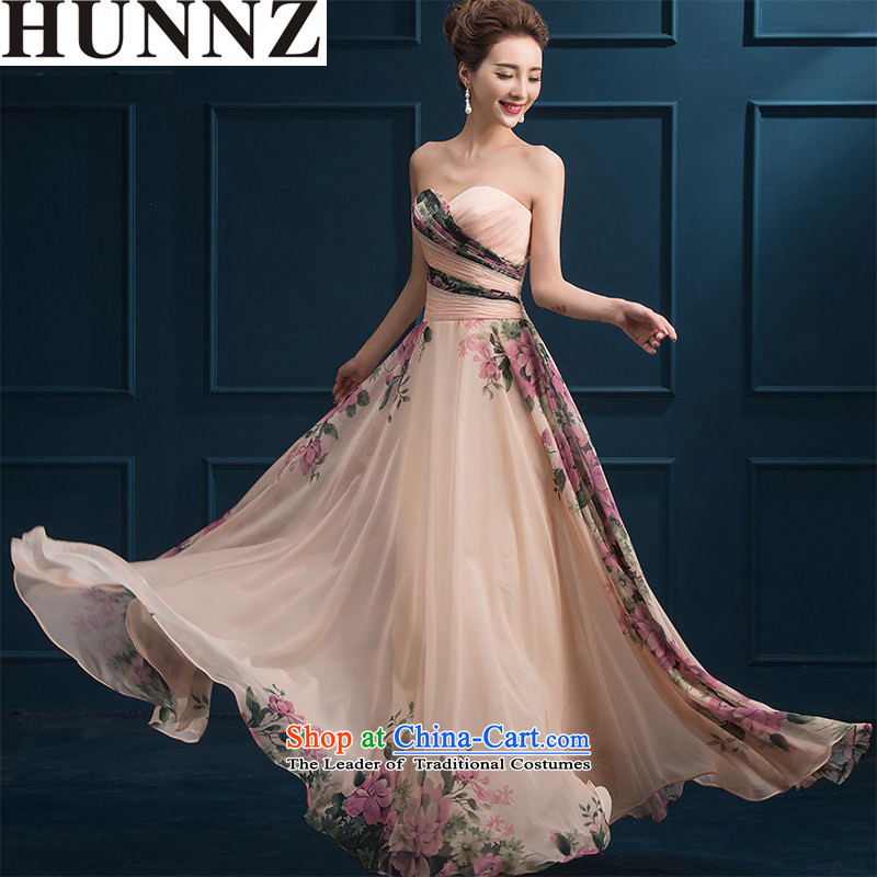 � �New stylish HUNNZ 2015 spring/summer long skirt length, banquet evening dresses bride dress bows and long service chest�XL