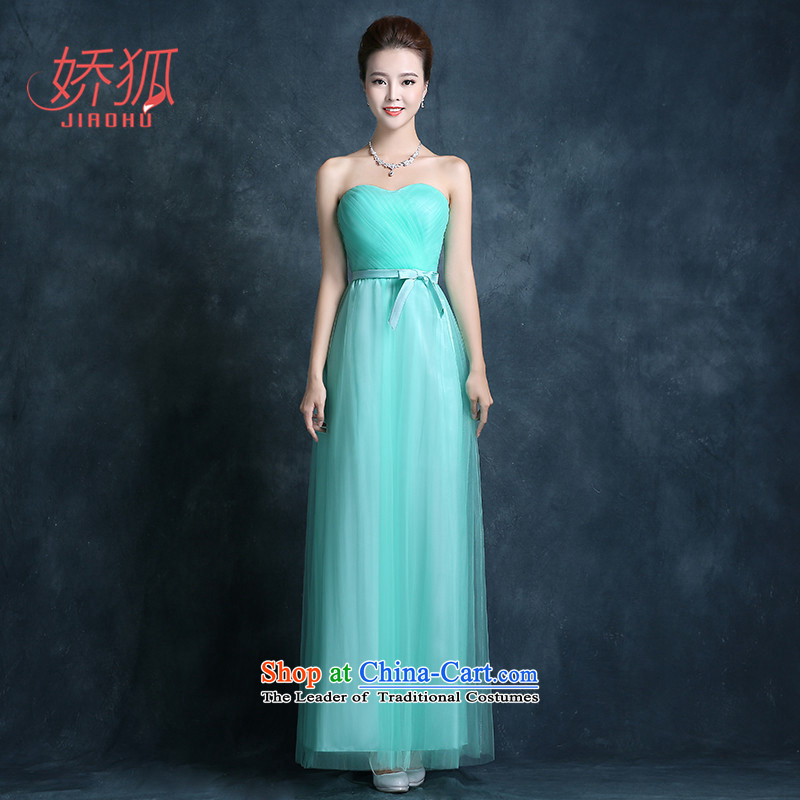 To Fox bridesmaid dress long blue skirt sister of autumn and winter banquet annual meeting of persons chairing the evening dresses female skyblue�L