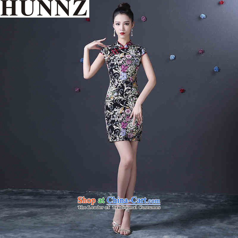 �  �Korean stylish package HUNNZ shoulder of nostalgia for the improved version of 2015 New banquet dinner dress suit for toasting champagne bride dress�L