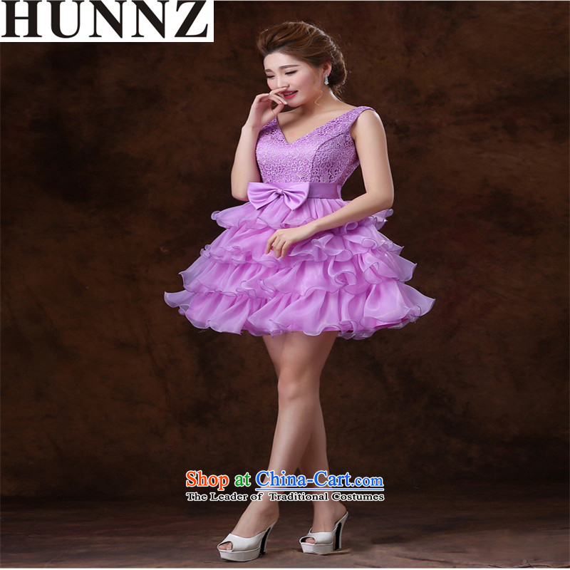 Hunnz   ?Korean bon bon skirt Stylish spring and summer 2015 large minimalist banquet evening dresses brides Sau San Pink dresses?S