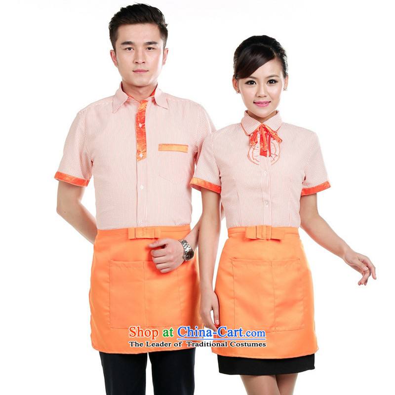 The hotel-hwan workwear summer restaurant fast men and women western restaurant buffet hotpot restaurant waiters working dress Ms. purple�L