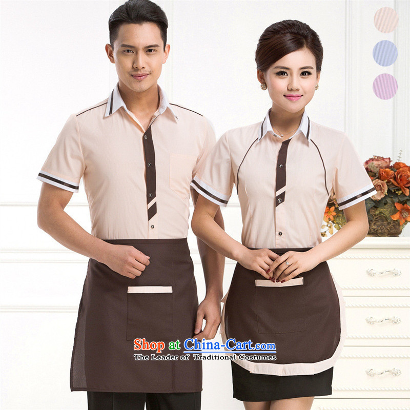 The hotel-hwan workwear summer female attendants western restaurant meal short-sleeved clothing cafe restaurant and coffee Ms.�L