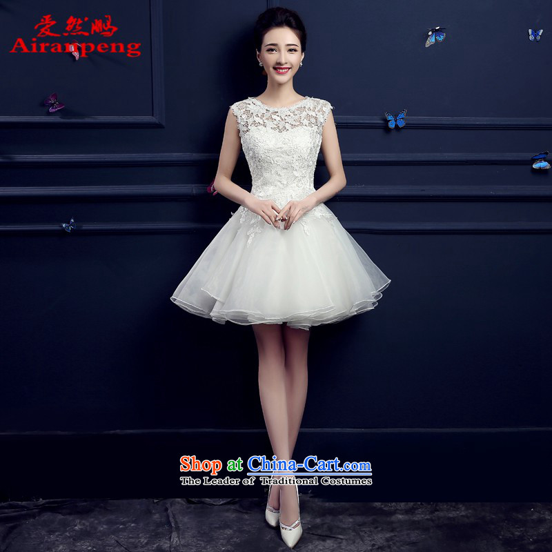 The bride services dress bows 2015 new summer short stylish wedding dress betrothal bridesmaid to skirt wedding Red and White聽XL