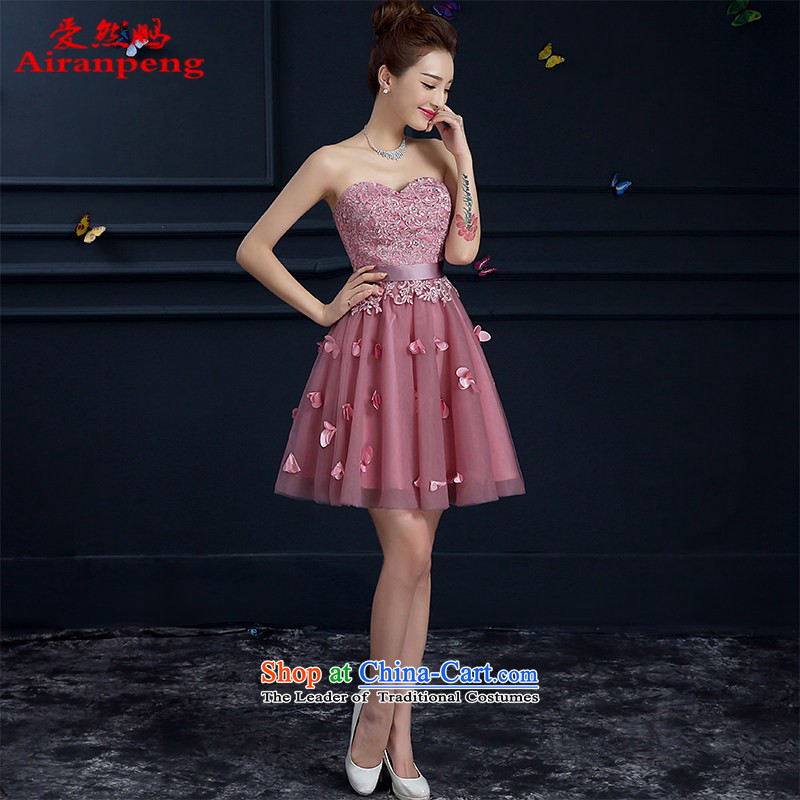 However, the new bride services 2015 wedding dress stylish wiping the chest banquet evening dresses red Women's Summer usual zongzi length of short,�S