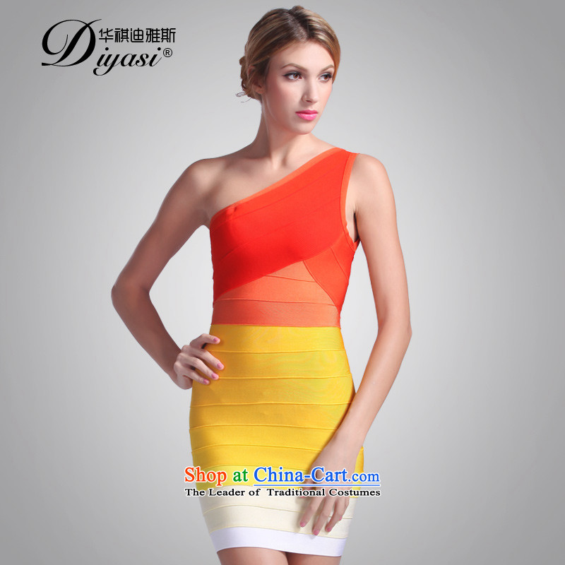 Hua Qi Avandia, new sexy shoulder dress dresses aristocratic gradient and short of the package of the Sau San trompet skirt wear?S