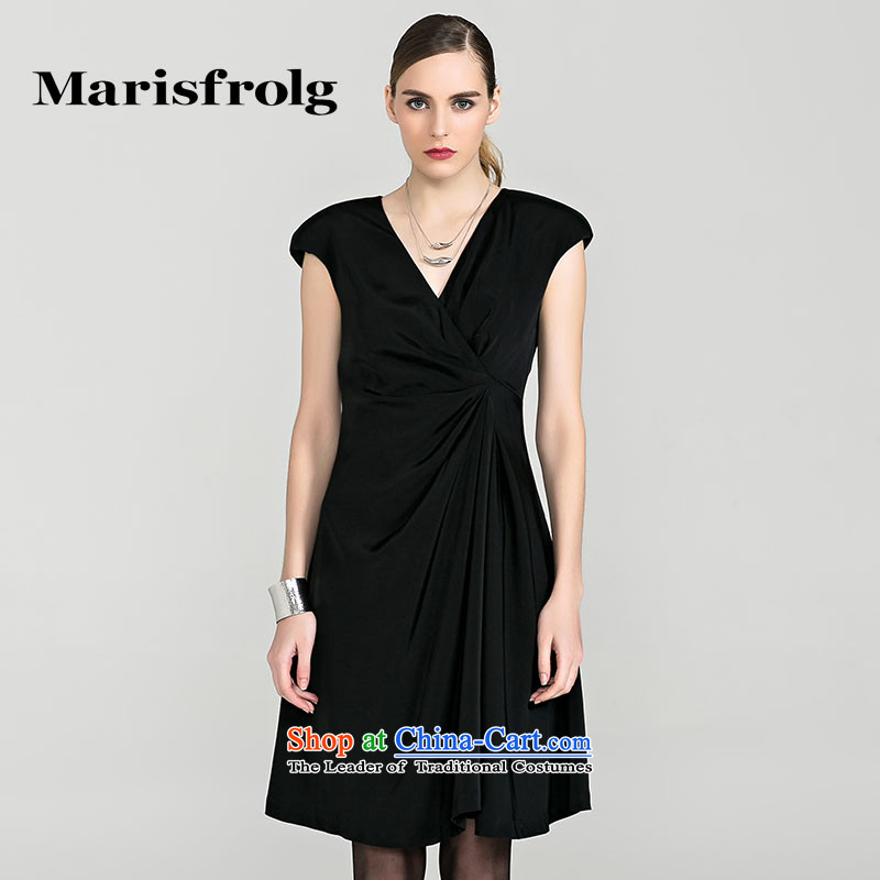 Marguerite had Rumsfeld marisfrolg creases short-sleeved gown counters in stylish and elegant autumn genuine female new other red?2/M/38