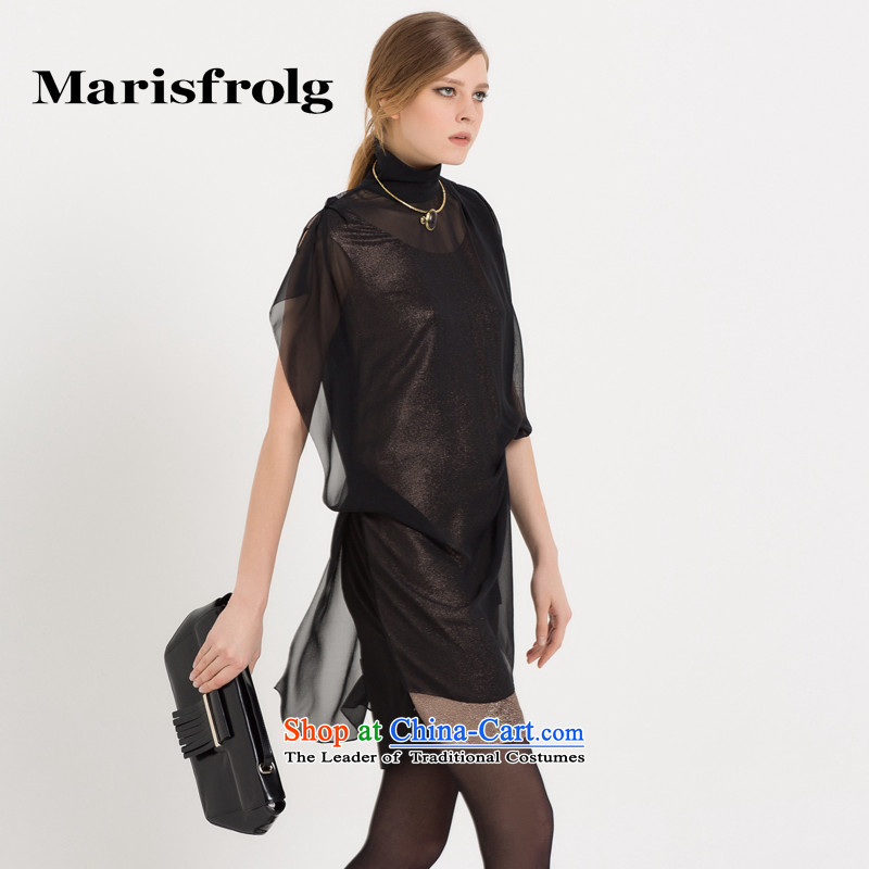 Marguerite had Rumsfeld marisfrolg/ classic two kits dress dresses genuine counters at the beginning of autumn female new black?2/M/38
