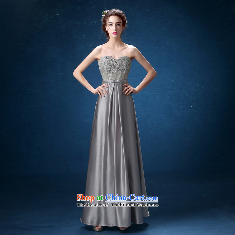 Banquet dinner dress 2015 new fall out chest lace moderator dress long skirt Sau San video thin, long XL