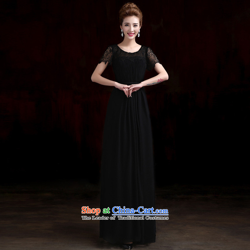 2015 new HANGZHOU CHAISHI IMP skirt long Ms. Sau San moderator dress dresses banquet dinner dress summer black?XXL