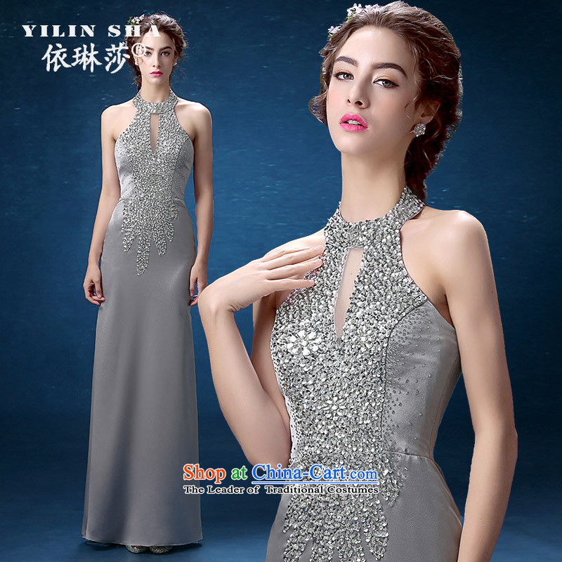 According to Lin Sha banquet evening dresses 2015 new fall also presided over dinner performances to dress long skirt Sau San video thin, long?L