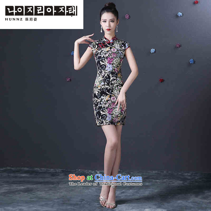 Name of the new 2015 hannizi spring and summer Korean-style qipao retro bride dress suit bows to suit?S