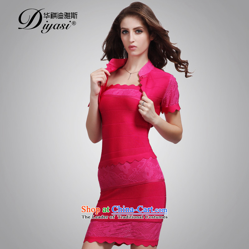 2015 new women's original western dress dresses aristocratic sexy fitness package and party in the red?XS bandage skirt