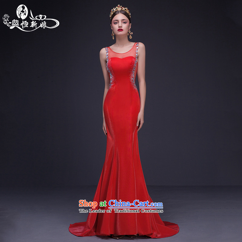 Noritsune bride new red marriage Services Mr Ronald Sau San crowsfoot bows dress bride banquet evening dress large new pre-sale fine custom red?S