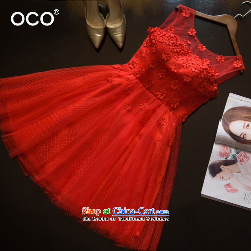 The bride wedding dress bows Service, Mr Ronald back to door service 2015 new wedding dress, the betrothal red stylish evening red?XXL