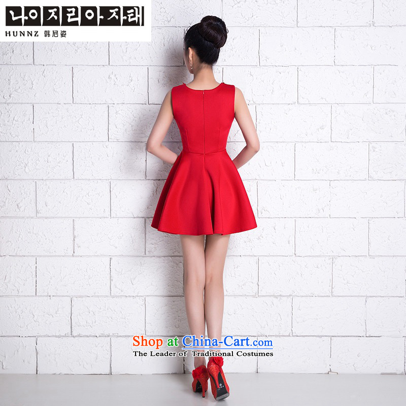 Name of the new 2015 hannizi spring and summer Korean bridal dresses stylish bows Service, Field shoulder Red Red?M