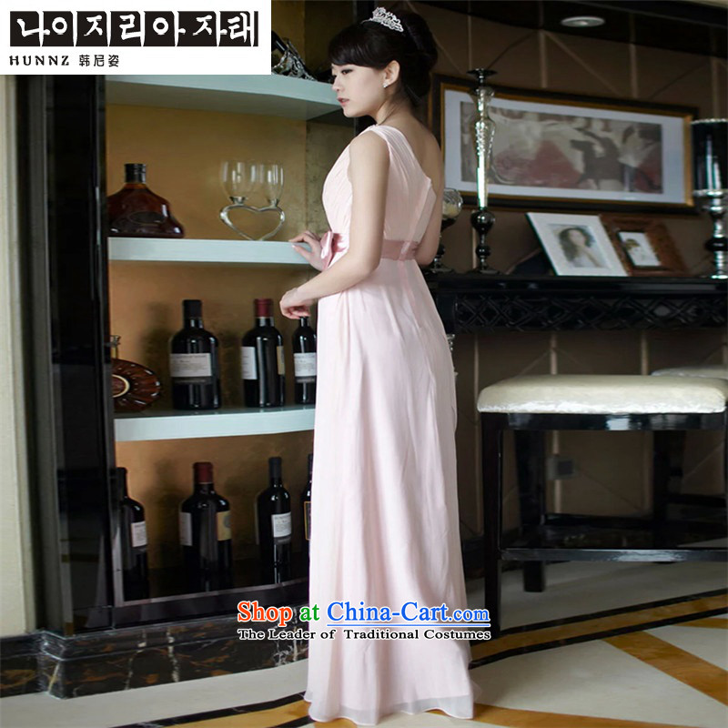 Name of the new 2015 hannizi spring and summer stylish bride dress bows services then shoulder length of Sau San evening dress the usual zongzi toner?S