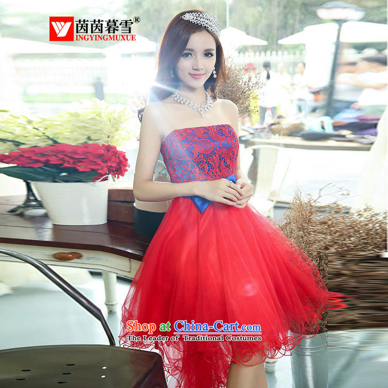 The Yin Yin snow fall 2015 Annual Meeting, New anointed chest wedding dresses in bride bridesmaid sister skirt crowsfoot bon bon skirt bows?HSZM1520 services?with the red?XL