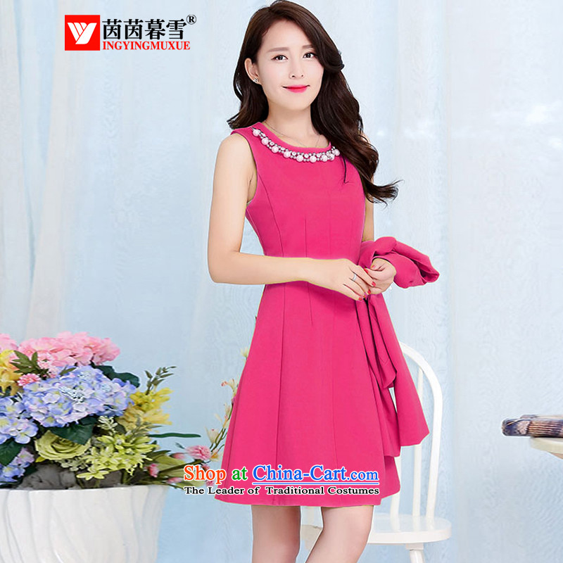 The Yin Yin snow in spring and autumn 2015 stylish two kits dresses high end amenities dress large red dress bride bridesmaid services package by red light HSZM1528?M