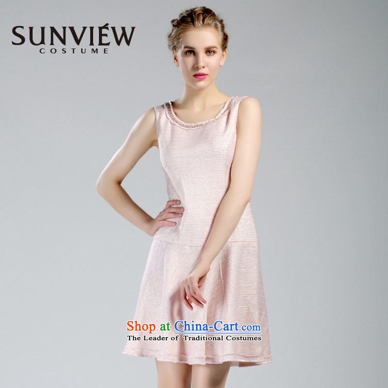 Yet some brands SUNVIEW/ female counters in spring and autumn genuine new stylish Sau San sleeveless dress dresses SE0IL076 03 PINK?40/165/M