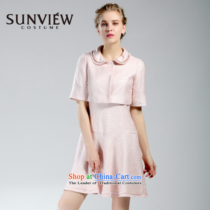 Yet some brands SUNVIEW_ female counters genuine fall inside the new fashion dolls collar bride jacket SE0IJ092聽40_165_M Pink