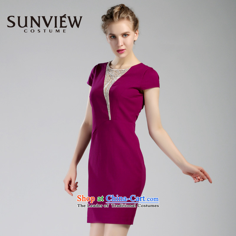 Yet some brands SUNVIEW/ female counters genuine 2015 Summer new bridal dresses bridesmaid wedding dresses in purple?44/175/XL SD0IL042 75
