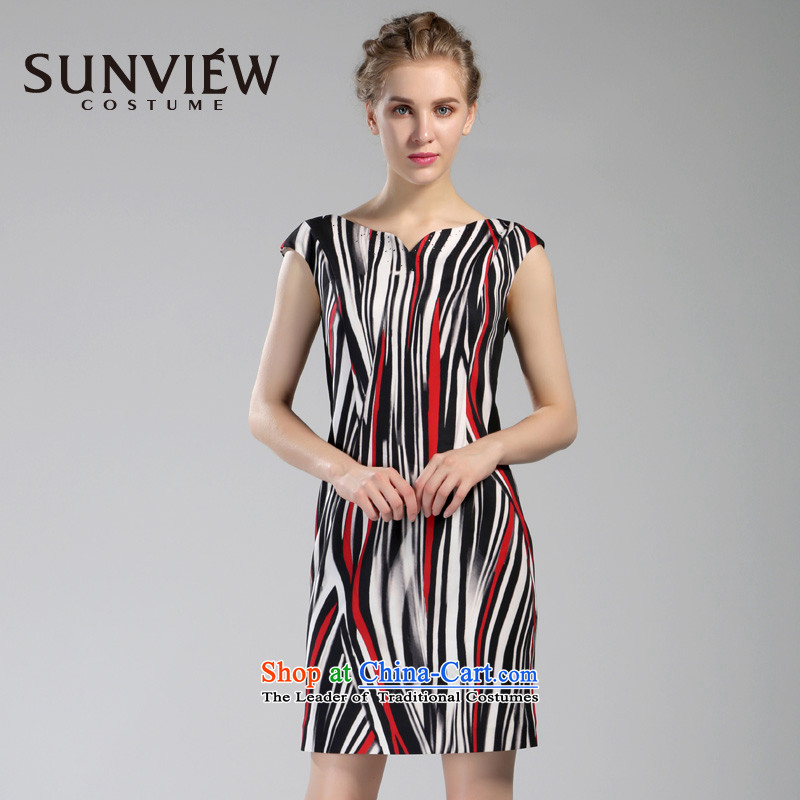 Yet some brands SUNVIEW/ female counters in spring and autumn 2015 genuine new mid-dress dresses SD0AL039 40/165/M 02 Red