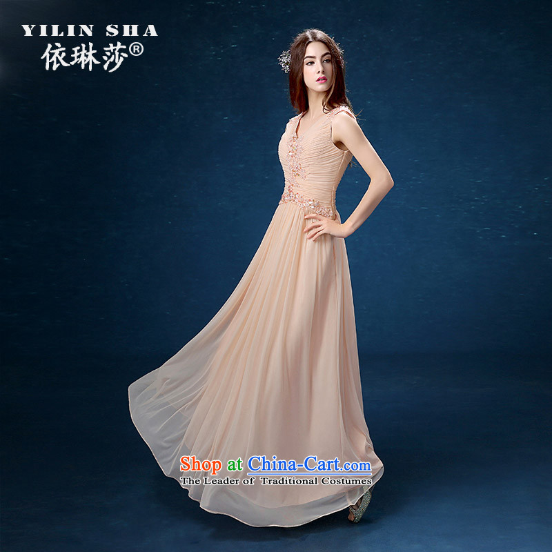 According to Lin Sha 2015 new wedding dresses long pink bride bows services marriage long skirt moderator evening dresses�XL