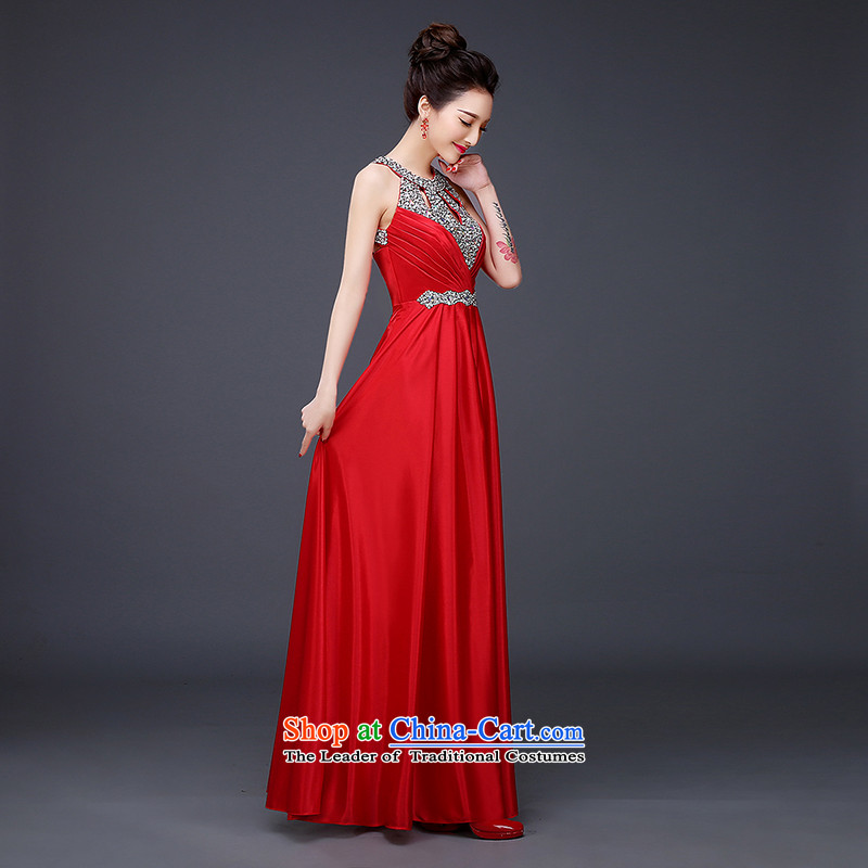However, the NEW Summer 2015 Service marriages evening dresses red long will also hang banquet drill Ms. parquet red聽L