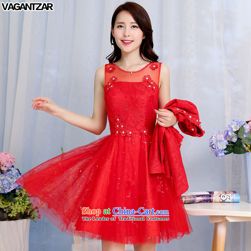 New Spring and Autumn VAGANTZAR large red bride replacing pregnant women married to skirt the lift mast bows dress Red Dress Sau San two kits 1582 Red?XXL